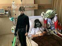 Setya Novanto (Setnov) yang menggunakan masker Continuous Positive Airway Pressure (CPAP) dijadikan tokoh antagonis Darth Vader dari serial Star Wars. (Foto: instagram/irenna09)