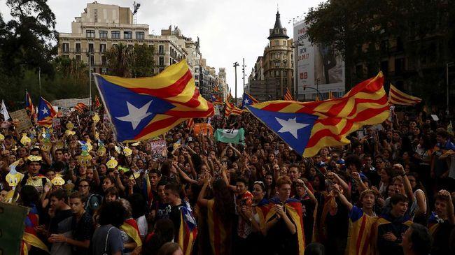 Satu Juta Orang Demo di Barcelona, Kembali Tuntut Katalonia