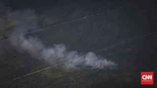 Sumut Punya Enam Titik Panas, Kabut Asap Selimuti Medan