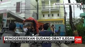 Polda Kalimantan Selatan Gerebek Gudang Obat Ilegal