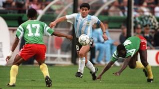 Maradona Cetak Gol Terbaik Abad 20 di Menit ke-55