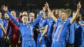 FOTO: Selebrasi Islandia dan Serbia ke Piala Dunia 2018