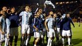 <p>Timnas Argentina untuk kali ke-17 melangkah putaran final Piala Dunia. Pada 2014, timnas Argentina merupakan tim finalis setelah kalah dari Jerman di final. (REUTERS/Edgard Garrido)</p>