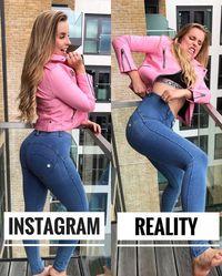 Dari sini, dimulailah ide Chessie untuk membuat meme yang tak hanya menghibur tapi bisa menyadarkan orang banyak bahwa tidak perlu menutupi kekurangan tubuh sendiri demi foto sempurna di Instagram. (Foto: Instagram @chessiekingg)