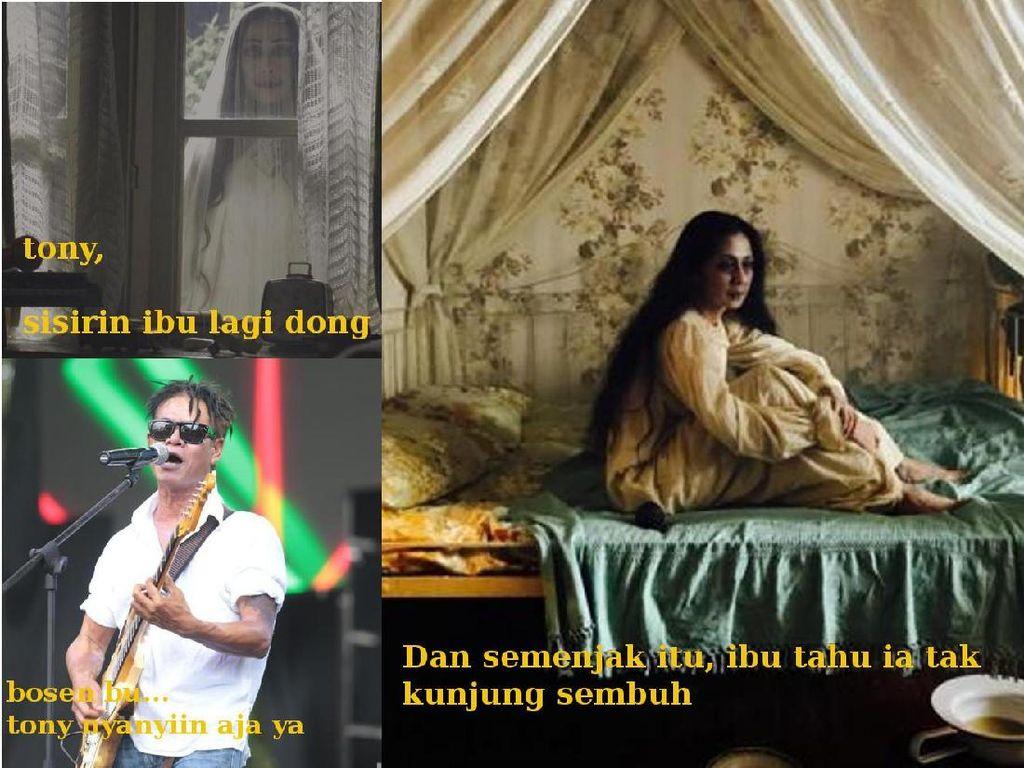 Di posisi ketiga meme yang paling dicari adalah Ibu sang Pengabdi Setan. Foto: meme
