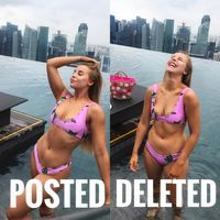 Nah, kalau yang ini menyindir kebiasaan para wanita yang suka berkali-kali foto untuk menemukan foto dengan bentuk tubuh terbaik. (Foto: Instagram @chessiekingg)