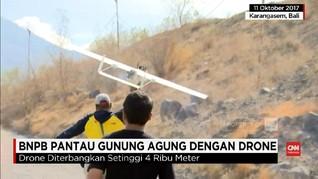 VIDEO: BNPB Pantau Gunung Agung Lewat Drone