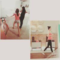 Bahkan, di sela-sela aktivitasnya syuting film dan video klip, ia masih menyempatkan diri untuk berolahraga kecil. (Foto: Instagram @reveramess_)