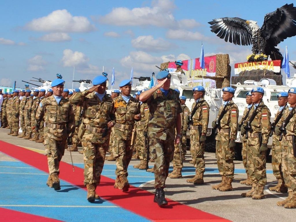 Kontingen Garuda tergabung dalam UNIFIL sejak tanggal 15 Desember 2016, waktu yang telah dilalui dengan melaksanakan mandat PBB sebagai penjaga perdamaian dunia di Lebanon, dinyatakan berhak memperoleh penghargaan dari PBB. Dok. Puspen Garuda.