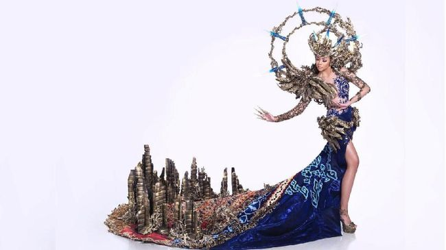 Kostum Nasional Indonesia Top 10 di Miss Grand International