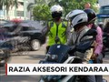 Razia Aksesori Kendaraan Pribadi di Jakarta
