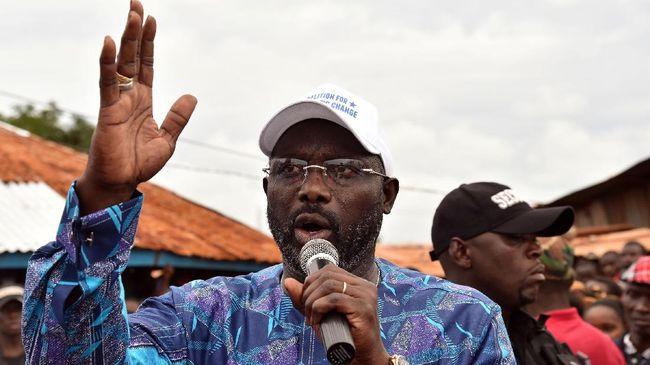 Pesepakbola George Weah Menang Pemilihan Presiden Liberia