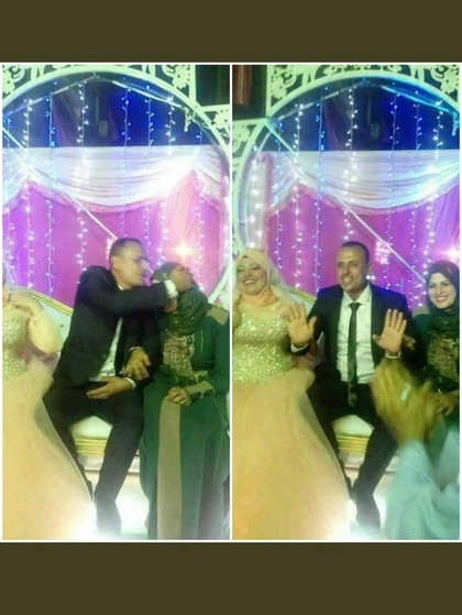 Viral, Foto Istri Tua Ikut Duduk di Pelaminan Saat Suaminya Nikah Lagi