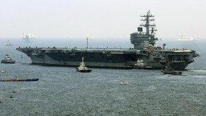 Jelang Jumpa Xi-Trump, Kapal Induk AS Merapat di Hong Kong