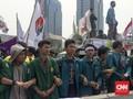 Massa Aksi 3 Tahun Jokowi-JK Bubar, 9 Orang Diamankan