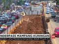 VIDEO: Proyek Underpass Mampang Molor, Macet Semakin Parah