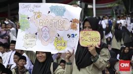 Jokowi Hadiri Puncak Peringatan Hari Santri 2018 di Bandung