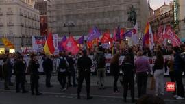 VIDEO: Warga Pendukung Kemerdekaan Catalonia Demo di Madrid