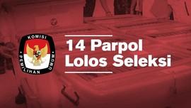 Sebanyak 14 Parpol Lolos Seleksi Administrasi KPU