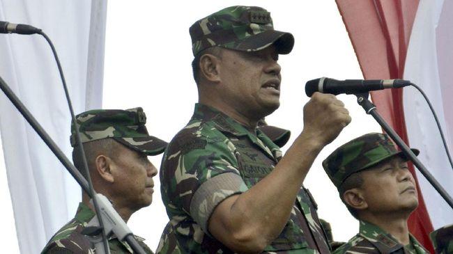 Panglima TNI Beri Pangkat Luar Biasa 58 Prajurit Penumpas KKB