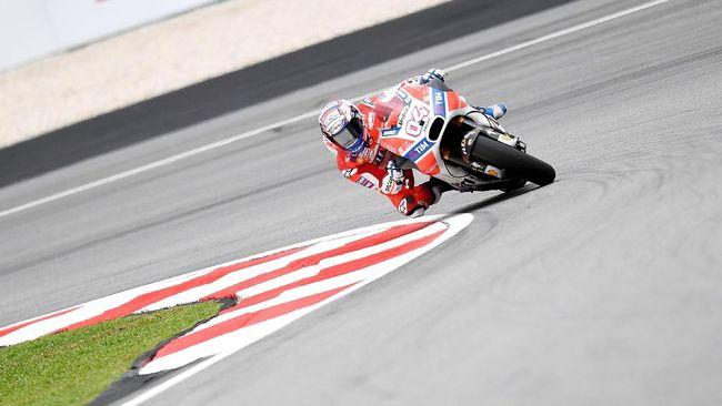 Dovizioso Tercepat di FP 1 MotoGP Malaysia 2018, Rossi Kedua