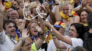 Sidang Vonis Separatis Catalonia Picu Bentrokan di Barcelona