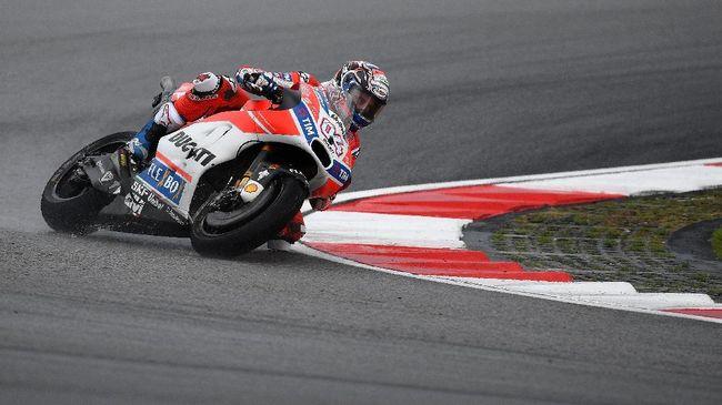 Dovizioso Tercepat di FP I MotoGP Qatar, Rossi Posisi Kedua