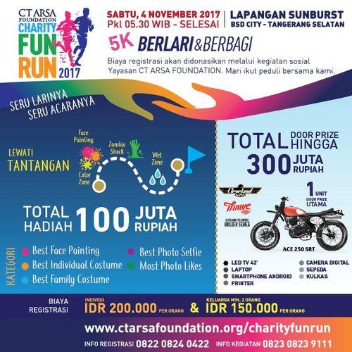 Bertabur Hadiah di CT Arsa Foundation Charity Fun Run