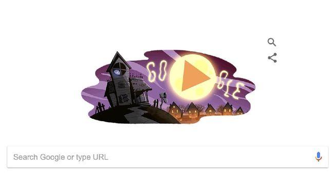 Google Doodle Rayakan Halloween dengan Video Menggemaskan