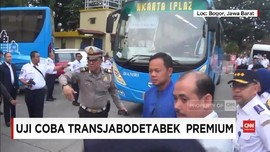 VIDEO: Ujicoba Transjabodetabek Premium