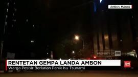 VIDEO: Ambon Dihantam Rentetan Gempa