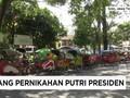 VIDEO: Becak Dikerahkan Antar Tamu Pernikahan Kahiyang