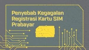 Penyebab Kegagalan Registrasi Kartu SIM Prabayar