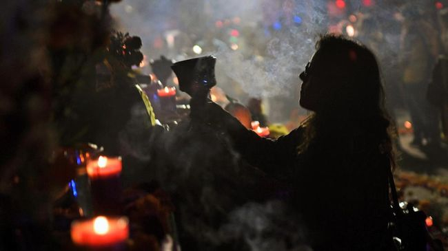 Pesta Kebangkitan Arwah Dua Malam di Meksiko