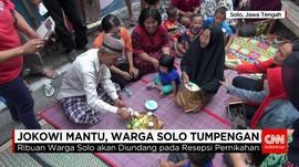 Warga Solo Gelar Hajatan Tumpeng Sambut Jokowi Mantu