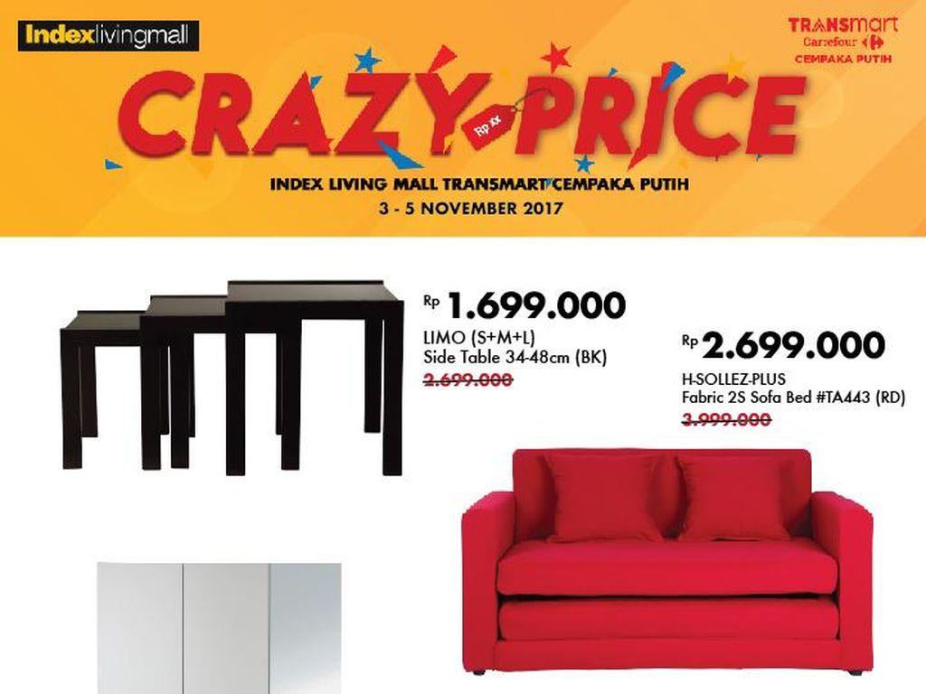 Harga Spesial Sofa Bed dan Lemari Pakaian di Index Living Mall