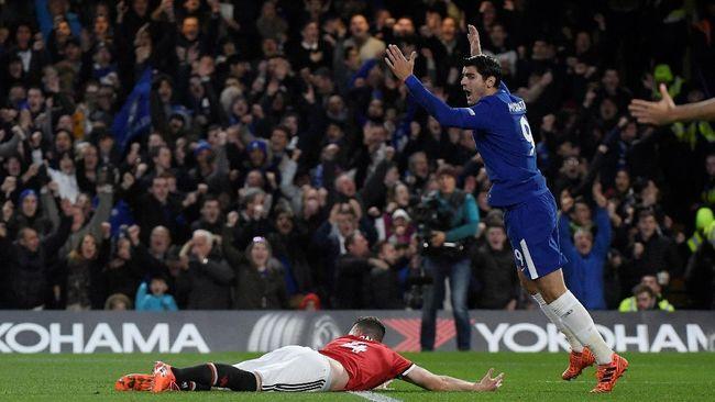 Chelsea vs Manchester United Tanpa Gol di Babak Pertama
