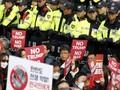 FOTO: Aksi Tolak Kedatangan Trump Meluas, Korsel Siaga Tinggi