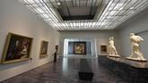 Museum ini dibangun oleh arsitek Jean Nouvel dengan menghabiskan bujet antara 83-108 juta euro atau Rp1,3-1,6 triliun. (AFP PHOTO / GIUSEPPE CACACE)