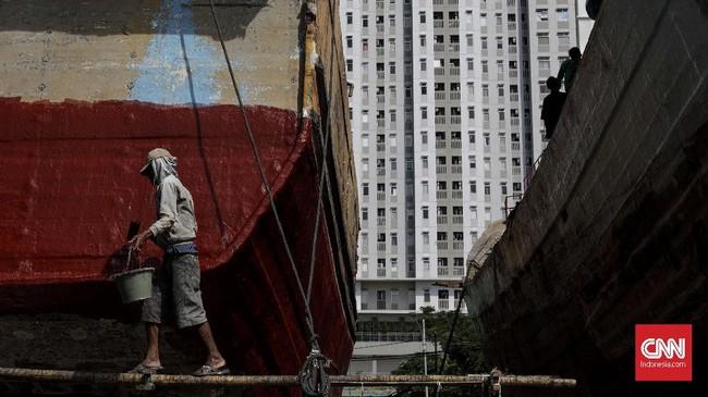 Saat ini, industri galangan kapal tak lagi hanya mengandalkan pengangkutan mintak dan gas, tetapi juga bisa merambah ke industri-industri maritim lainnya.(CNNIndonesia/Adhi Wicaksono)