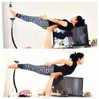 Annisa juga gemar berolahraga yoga, salah satu jenis yoganya adalah akroyoga. Latihan ini bermanfaat untuk melatih keseimbangan tubuh. Foto: Instagram/@annisayudhoyono