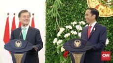Dolar Tinggi, Jokowi Ajak Korsel Transaksi Pakai Rupiah-Won