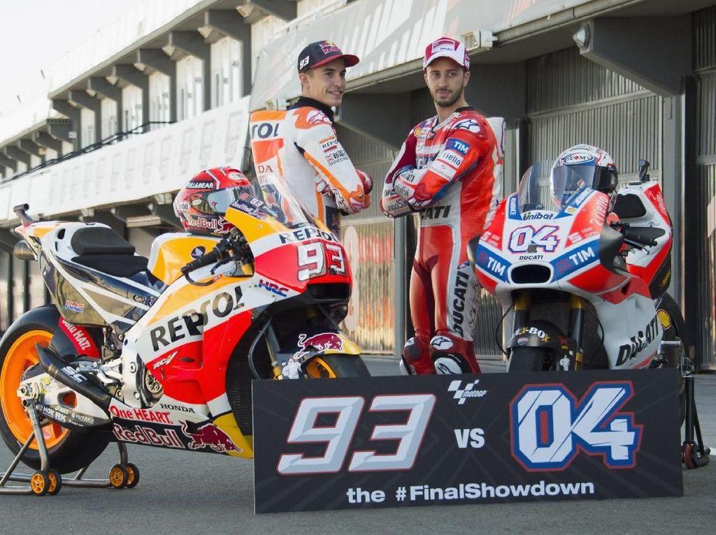 Sementara Dovi, untuk jadi juara dunia dia harus menjejak podium teratas dan di saat bersamaan Marquez gagal finis 11 besar. (Mirco Lazzari gp/Getty Images)