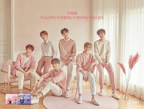 Pertama Kalinya, Boyband Korea Jadi Model Iklan Pembalut Wanita