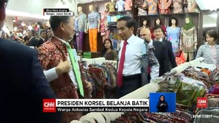 VIDEO: Jokowi Ajak Presiden Korsel Belanja Batik