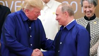 Dikritik karena Beri Selamat Putin, Trump Bela Diri