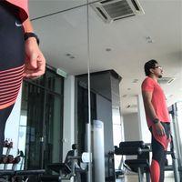 Foto Engku memamerkan badan hasil latihan yang ia jalani selama persiapan triatlon. (Foto: Instagram/iamkumbre)