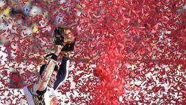 FOTO: Perayaan Marquez Jadi Juara Dunia MotoGP 2017
