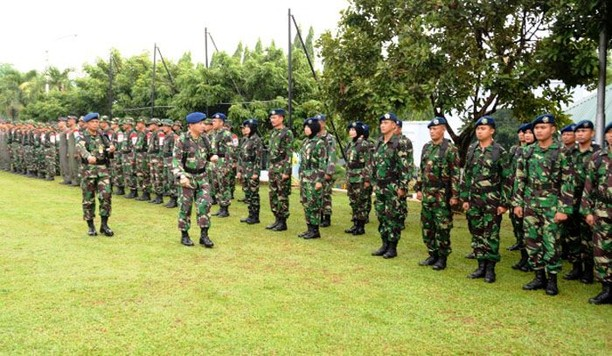 Upacara Pembukaan Latihan Perang Sekkau Angkatan 102