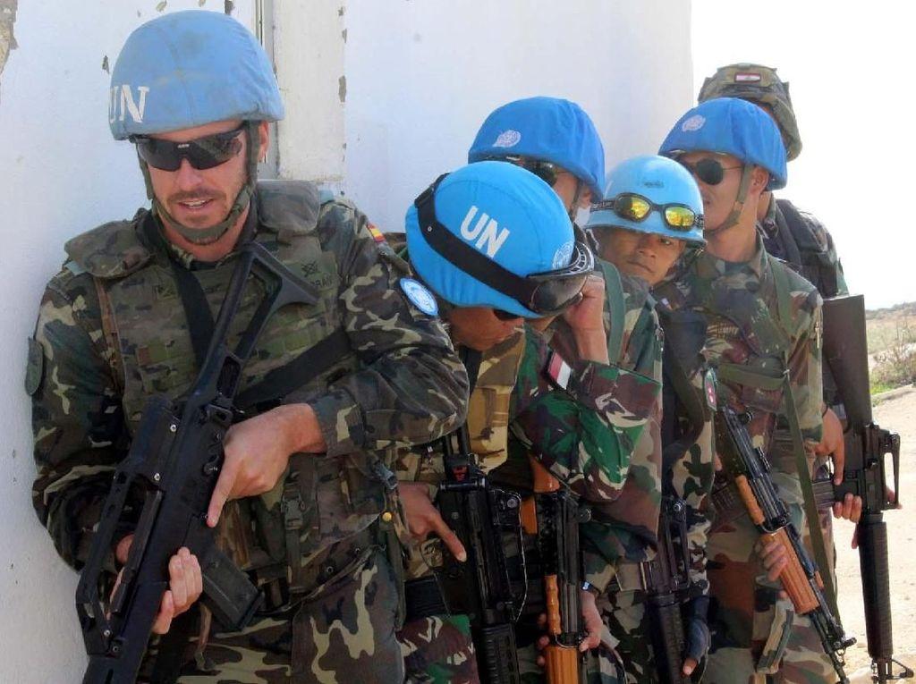 Pelatihan Joint Urban Combat Training yang diikuti oleh tentara dari Serbia, Nepal, India, Spanyol, Lebanon dan Indonesia, merupakan salah satu program dari PBB untuk memberikan ketrampilan. Pool/Penerangan Yonmek Konga XXIII-K/UNIFIL.